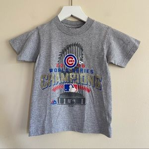 CHICAGO CUBS Kids 2016 World Series Tee Small
